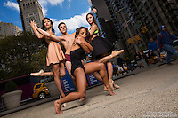 Ballerina & Dancers Madison Square Park New York City Dance As Art Photography with Sylvana Tapia, Andy Jacobs, Alana Allende and Sabrina Imamura