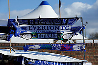 Football - 2019 / 2020 Premier League - Everton vs. Manchester United<br /> <br /> Scarves on sale before today's game, at Goodison Park.<br /> <br /> COLORSPORT/ALAN MARTIN