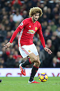 Marouane Fellaini Midfielder of Manchester United during the Premier League match between Manchester United and Middlesbrough at Old Trafford, Manchester, England on 31 December 2016. Photo by Phil Duncan.