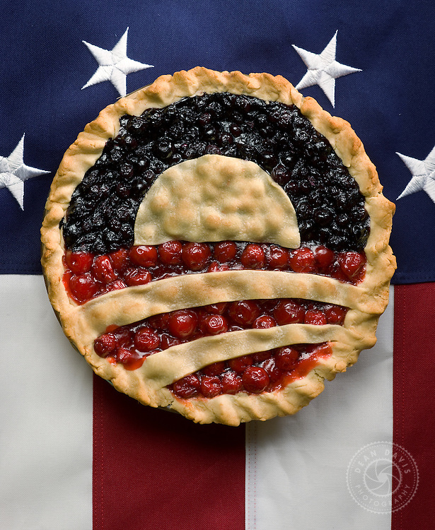 "Spokane Photographer Dean Davis made this image after Barak Obama was elected to his first term. The image is called ""New American Pie"". I worked with Greg Stiles from Spokane Falls Community College and food stylist, Stephanie Puddy."