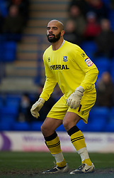 BIRKENHEAD, ENGLAND - Saturday, January 8, 2011: Tranmere Rovers' goalkeeper Tony Warner makes his debut for the club during the Football League One match against Walsall at Prenton Park. (Pic by: David Rawcliffe/Propaganda)