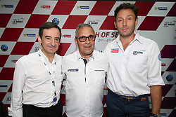 February 3, 2018 - Malaisie, Sepang - CYRILLE TAESCH WAHLEN (FRA) ASIAN LE MANS SERIES PROMOTER AND PIERRE FILLON (FRA) PRESIDENT OF THE ACO WITH PATRICK DIAS (FRA) HEAD OF MICHELIN TYRE IN ASIA (Credit Image: © Panoramic via ZUMA Press)