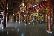 The Citadel. Imperial Enclosure. Thai Hoa Palace (Palace of Supreme Harmony). Imperial throne.