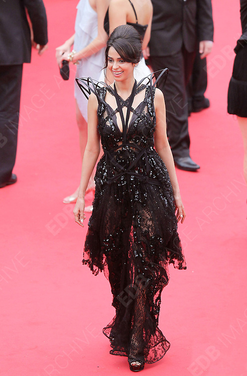 14.MAY.2011. CANNES<br /> <br /> STEPHANIE SIGMAN ON THE RED CARPET FOR THE PIRATES OF THE CARIBBEAN: ON THE STRANGER TIDES PREMIERE AT THE 64TH CANNES INTERNATIONAL FILM FESTIVAL 2011 IN CANNES, FRANCE<br /> <br /> BYLINE: EDBIMAGEARCHIVE.COM<br /> <br /> *THIS IMAGE IS STRICTLY FOR UK NEWSPAPERS AND MAGAZINES ONLY*<br /> *FOR WORLD WIDE SALES AND WEB USE PLEASE CONTACT EDBIMAGEARCHIVE - 0208 954 5968*