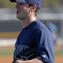 February 20, 2011; Port Charlotte, FL, USA; Tampa Bay Rays relief pitcher Brandon Gomes (47) during spring training at Charlotte Sports Park.  Mandatory Credit: Derick E. Hingle