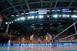 16-10-2010 VOLLEYBAL: DELA TROPHY NEDERLAND - CUBA: ALMERE<br /> Nederland wint opnieuw de DELA Trophy / Publiek, support Oranje, Imnisport hal zaal<br /> ©2010-WWW.FOTOHOOGENDOORN.NL