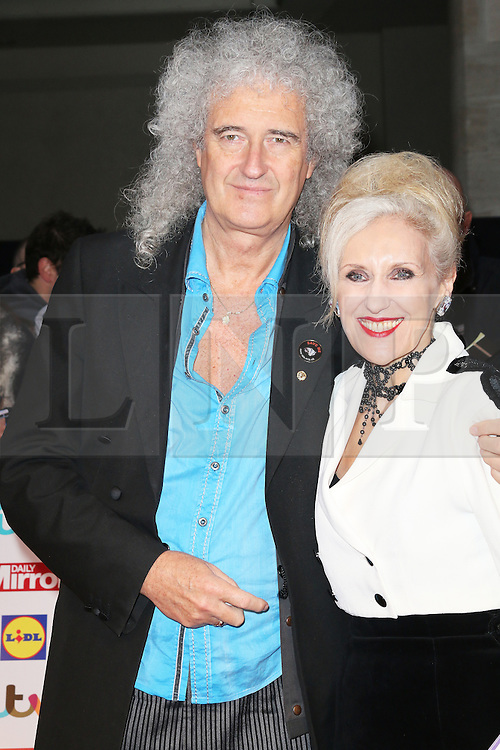 © Licensed to London News Pictures. 07/10/2013, UK. Brian May; Anita Dobson, Pride of Britain Awards, Grosvenor House Hotel, London UK, 07 October 2013. Photo credit : Richard Goldschmidt/Piqtured/LNP