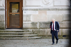 © Licensed to London News Pictures. 30/01/2018. London, UK. Foreign and Commonwealth Secretary Boris Johnson arriving in Downing Street to attend a Cabinet meeting this morning. Photo credit : Tom Nicholson/LNP