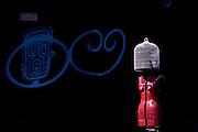 """A tailor's dummy as a robot in """"L'Universo, molto probabilmente"""" at Oscar theatre in Milan, June 9, 2010. The play - The Universe, almost certainly - writen and directed by Riccardo Magherini is a tribute to Douglas Adams author of science fiction novels...Manichino da sarto usato come robot ne """"L'Universo, molto probabilmente"""" al teatro Oscar di Milano, 9 giugno 2010. Riccardo Magherini è il regista e l'autore de L'Universo, molto probabilmente, omaggio a Douglas Adams autore di romanzi di fantascienza."""