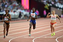 Desiree Henry of Great Britain in action - Mandatory byline: Patrick Khachfe/JMP - 07966 386802 - 06/08/2017 - ATHLETICS - London Stadium - London, England - Women's 100m Semi Final - IAAF World Championships