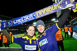 Supporters of Maribor after the football match between Chelsea FC and NK Maribor, SLO in Group G of Group Stage of UEFA Champions League 2014/15, on October 21, 2014 in Stamford Bridge Stadium, London, Great Britain. Photo by Vid Ponikvar / Sportida.com