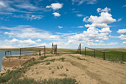 Cattle gate between two pastures