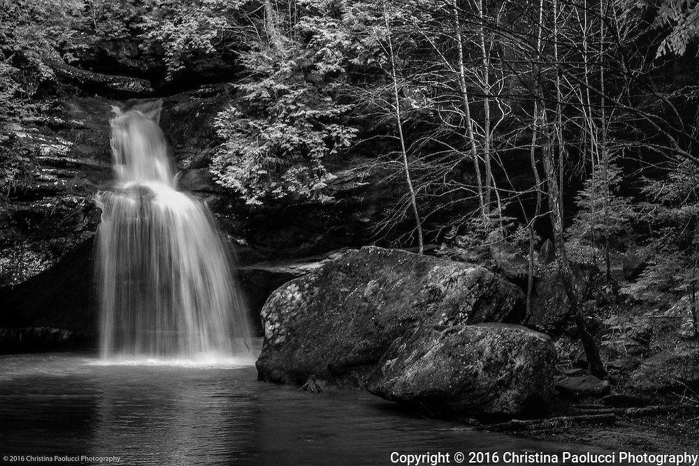 Lowers falls at Old Man's Cave in the Hocking Hills March 2016. (Christina Paolucci, photographer).