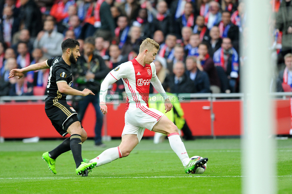 May 3, 2017 - Amsterdam, France - 18 NABIL FEKIR (ol) - 36 Matthijs de Ligt  (Credit Image: © Panoramic via ZUMA Press)