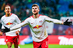 LEIPZIG, Dec. 17, 2018  Timo Werner (front) of Leipzig celebrates his scoring during the Bundesliga match between RB Leipzig and FSV Mainz 05 in Leipzig, Germany, Dec. 16, 2018. Leipzig won 4-1. (Credit Image: © Kevin Voigt/Xinhua via ZUMA Wire)