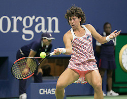 September 5, 2018 - Flushing Meadows, New York, U.S - Carla Suarez Navarro during her match against Madison Keys on Day 10 of the 2018 US Open at USTA Billie Jean King National Tennis Center on Wednesday September 5, 2018 in the Flushing neighborhood of the Queens borough of New York City. (Credit Image: © Prensa Internacional via ZUMA Wire)
