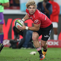Faf de Klerk of the Emirates Lions during the Super Rugby match between The Emirates Lions and the Jaguares, April 21st 2017, at  Emirates Airlines Park,Johannesburg,South Africa Photo by (Steve Haag)