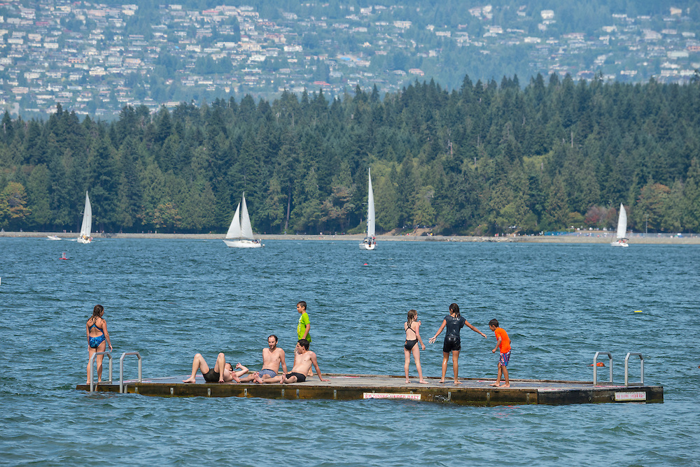 Canada, British Columbia, Vancouver ,English Bay, Kitsilano Beach, University Peninsula