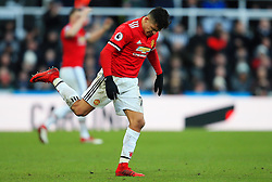 Alexis Sanchez of Manchester United kicks the ground in frustration - Mandatory by-line: Matt McNulty/JMP - 11/02/2018 - FOOTBALL - St James Park - Newcastle upon Tyne, England - Newcastle United v Manchester United - Premier League