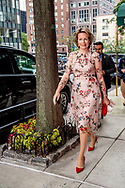 24-9-2018 NEW YORK Queen Malthilde walks near the United Nations building for the General Assembly ROBIN UTRECHT