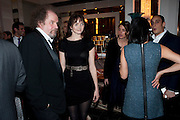 MIKE FIGGIS; LILY COLE; CHARLOTTE CASIRAGHI;, Ella Krasner and Pablo Ganguli host a Liberatum dinner in honour of Sir V.S.Naipaul. The Landau at the Langham. London. 23 November 2010. -DO NOT ARCHIVE-© Copyright Photograph by Dafydd Jones. 248 Clapham Rd. London SW9 0PZ. Tel 0207 820 0771. www.dafjones.com.