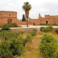 El Badi Palace in Marrakech, Morocco<br /> In 1578, the Portuguese lost the Battle of Three Kings in northern Morocco. An outcome of this Battle of Alc&aacute;cer Quibir was Ahmad al-Mansur became the sultan of the Saadi Empire and Morocco. He used the spoils of his victory to begin building the El Badi Palace. The name means &ldquo;The Marvelous.&rdquo;  As you tour the ruins, it is hard to imagine its former opulence. The 360 rooms were once decorated with gold, marble, ivory and other riches. Today it is a shell and a residence for storks.