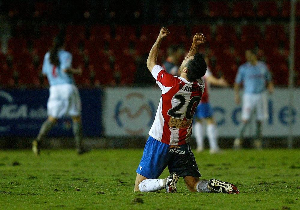 2009. january, 1st. Partido de segunda división A disputado entre el Girona F.C. como equipo local y el Celta de Vigo..COPYRIGHT: TONI VILCHES FOTOGRAFIA.