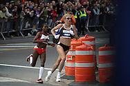 11/4/2007. NEW YORK, NY, USA. Paula Radcliffe and Jelena Prokopcuka lead the New York Marathon 2007. IPAPHOTO.COM