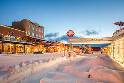 """""""Downtown Truckee 56"""" - Photograph of historic Downtown Truckee, California shot right after a snow storm."""