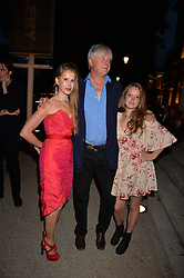 Left to right, Freya Wood, the Marquess Of Worcester and Posey Wood at the Tatler's English Roses 2017 party in association with Michael Kors held at the Saatchi Gallery, London England. 29 June 2017.<br /> Photo by Dominic O'Neill/SilverHub 0203 174 1069 sales@silverhubmedia.com