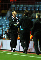 Photo: Mark Stephenson.<br /> Aston Villa v Leicester City. Carling Cup. 26/09/2007.Leicester's manager Gary Megson shakes hands with Martin O'Neil