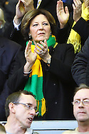 Picture by Paul Chesterton/Focus Images Ltd.  07904 640267.22/10/11.Norwich City's Joint Majority Shareholder Delia Smith before the Barclays Premier League match at Anfield, Liverpool