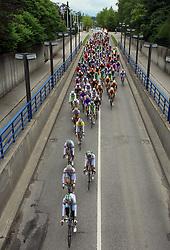 Peloton in Celje in last 4th stage of the 15th Tour de Slovenie from Celje to Novo mesto (157 km), on June 14,2008, Slovenia. (Photo by Vid Ponikvar / Sportal Images)/ Sportida)