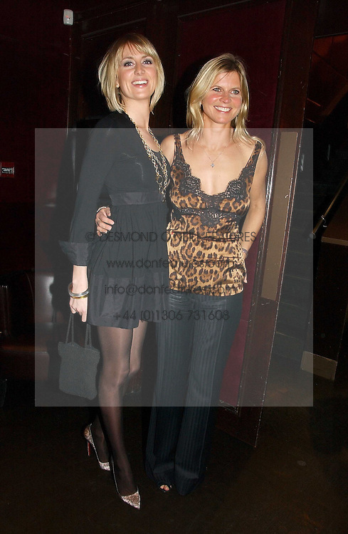 Left to right, LADY EMILY COMPTON and the MARCHIONESS OF MILFORD HAVEN at The Christmas Cracker - an evening i aid of the Starlight Children's Charity held at Frankies, Knightsbridge on 13th December 2006.<br />