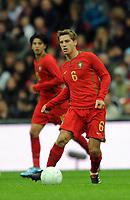 England U21/Portugal U21 European Under 21 Championship 14.11.09 <br /> Photo: Tim Parker Fotosports International<br /> Adrien Silva Portugal Under 21's 2009/10