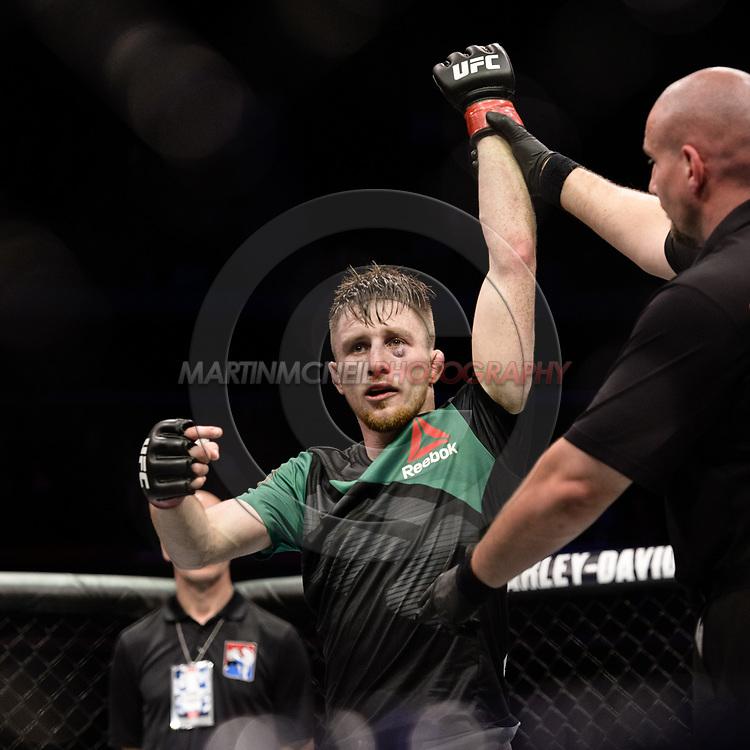 "GLASGOW, UNITED KINGDOM, JULY 16, 2017: Brett Johns during ""UFC Fight Night Glasgow: Nelson vs. Ponzinibbio"" inside the SSE Hydro Arena in Glasgow, Scotland on Sunday, July 16, 2017."