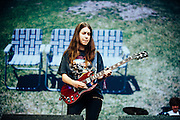 Danielle Haim/Haim performing live at the Rock A Field Festival in Roeser, Luxembourg on June 29, 2014