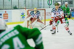 Smith Jacob of Bolzano during ice hockey match between HDD Olimpija Ljubljana and HC Bolzano in EBEL league, on Januar 9th, 2017 in Hala Tivoli, Ljubljana, Slovenia. Photo by Grega Valancic / Sportida