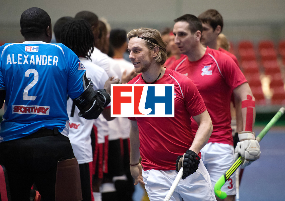 BERLIN - Indoor Hockey World Cup<br /> Czech Republic - Trinidad &amp; Tobago<br /> foto: Line Up<br /> WORLDSPORTPICS COPYRIGHT FRANK UIJLENBROEK