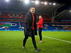 CARDIFF, WALES - Friday, November 24, 2017: Wales' Natasha Harding inspects the pitch before the FIFA Women's World Cup 2019 Qualifying Round Group 1 match between Wales and Kazakhstan at the Cardiff City Stadium. (Pic by David Rawcliffe/Propaganda)
