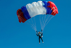 World ParaSki Champion Matej Becan of Slovenia parachuting during practice session, on March 10, 2015 in Airport Lesce, Slovenia. Photo by Vid Ponikvar / Sportida