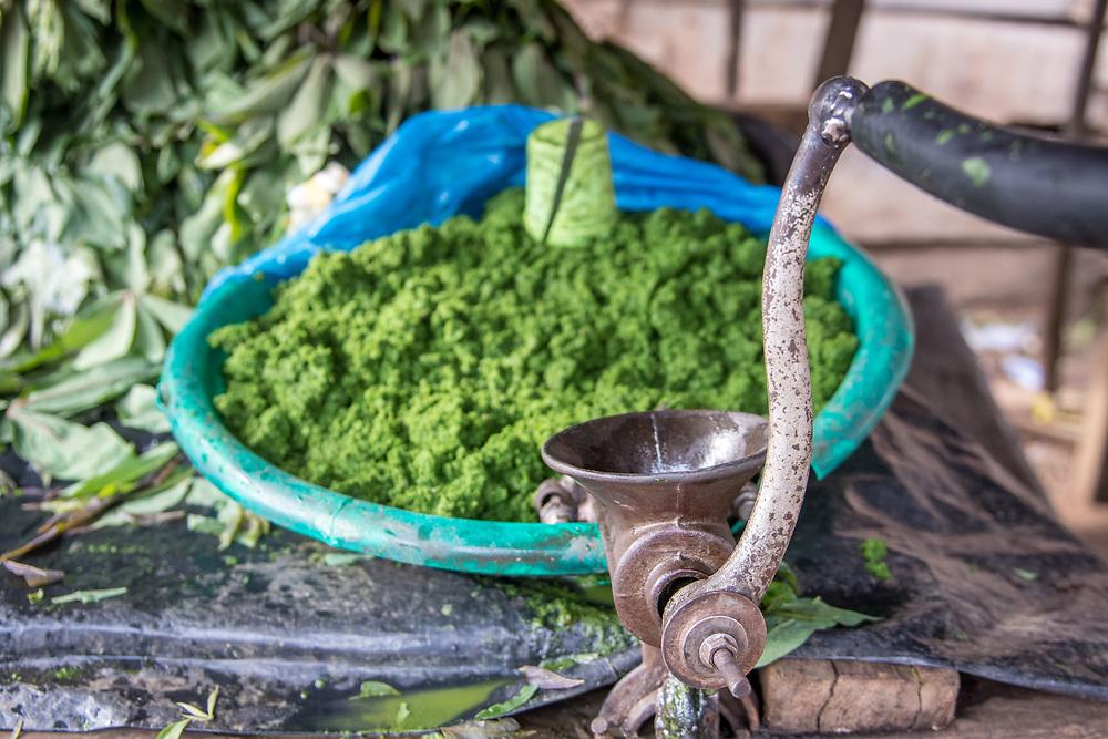 Ground leaves, Ganta, Liberia