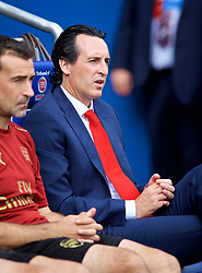 CARDIFF, WALES - Sunday, September 2, 2018: Arsenal's manager Unai Emery before the FA Premier League match between Cardiff City FC and Arsenal FC at the Cardiff City Stadium. (Pic by David Rawcliffe/Propaganda)