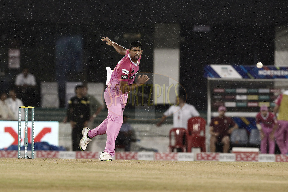 Ish Sodhi of the NORTHERN KNIGHTS during match 3 of the Oppo Champions League Twenty20 between the Cape Cobras and the Northern Knights held at the Chhattisgarh International Cricket Stadium, Raipur, India on the 19th September 2014<br /> <br /> Photo by:  Deepak Malik / Sportzpics/ CLT20<br /> <br /> <br /> Image use is subject to the terms and conditions as laid out by the BCCI/ CLT20.  The terms and conditions can be downloaded here:<br /> <br /> http://sportzpics.photoshelter.com/gallery/CLT20-Image-Terms-and-Conditions-2014/G0000IfNJn535VPU/C0000QhhKadWcjYs