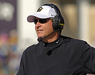Colorado head coach Gary Barnett during game action against Kansas State at KSU Stadium in Manhattan, Kansas, October 29, 2005.  The Buffaloes beat K-State 23-20.