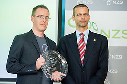 Ambroz Krajnc of NK Celje and Aleksander Ceferin of NZS during NZS Draw for season 2015/16 on June 23, 2015 in Brdo pri Kranju, Slovenia. Photo by Vid Ponikvar / Sportida