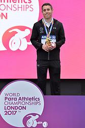19/07/2017 : Jason Smyth (IRL), Gold Medal, T13, Men's 200m, at the 2017 World Para Athletics Championships, Olympic Stadium, London, United Kingdom