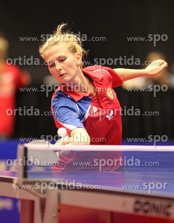 19.10.2012, MGH Arena, Herning, DEN, ETTU, Tischtennis Europameisterschaft, im Bild Margarita FETUKHINA (RUS) bei der Ballannahme // during the Table Tennis European Championships at the MGH Arena, Herning, Denmark on 2012/10/19. EXPA Pictures © 2012, PhotoCredit: EXPA/ Eibner/ Florian Wues ***** ATTENTION - OUT OF GER *****