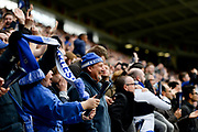 Fox's fans celebrate after Leicester City midfielder Wilfred Ndidi (25) scores to make it 1-0 during the Premier League match between Leicester City and Stoke City at the King Power Stadium, Leicester, England on 1 April 2017. Photo by Jon Hobley.
