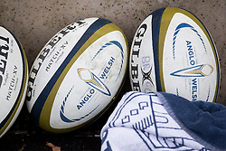 Anglo Welsh Cup match balls - Rogan Thomson/JMP - 05/02/2017 - RUGBY UNION - Ashton Gate Stadium - Bristol, England - Bristol Rugby v Exeter Chiefs - Anglo Welsh Cup.